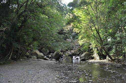 此地适合休憩。云森瀑布就在上游处。 (图片提供:tony)