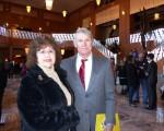 報稅公司老闆Donna Rodgers女士和Walter Joyner先生於2016年1月24日下午在美國拉斯維加斯的史密斯藝術中心(The Smith Center)觀看了神韻演出。(史迪/大紀元)