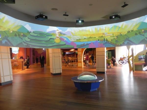 """故宫南院博物馆1楼,大小朋友都喜欢的""""儿童创意中心""""。(蔡上海/大纪元)"""