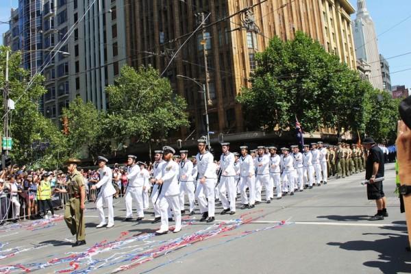 2016年1月26日,澳大利亞墨爾本50多個團體参加國慶盛大遊行。(王宇成/大紀元)