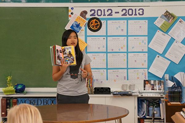 美国高中交换生学会用英文表达想法,和老师同学沟通。(图:天下留学提供)