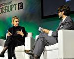 霍爾姆是《福布斯》排行121名的前400大富豪、美國第一位自行創業成功的億萬女富豪。(Steve Jennings/Getty Images for TechCrunch)
