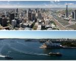8月份房价走势预览,悉尼8月份房价整体趋平,墨尔本房价还在上涨。(大纪元合成图)