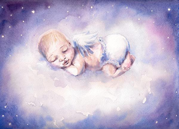 「嬰兒意識的主體部分仍然與其來自的天體境界息息相通。」(Fotolia)