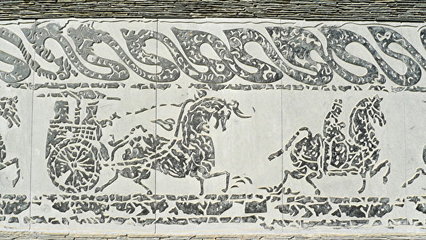 中国古代岩画中的马匹。(fotolia)