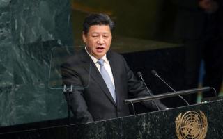 """1月8日至27日,大陆已有10个省市表示坚决向习近平""""看齐"""",并强调增强""""政治核心意识""""。习的个人权威已不断增强。(Spencer Platt/Getty Images)"""