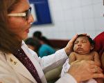 因兹卡病毒患上先天性小头畸形症的婴儿。(Mario Tama/Getty Images)