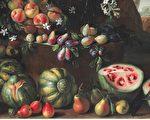 17世纪罗马画家乔凡尼‧斯坦基(Giovanni Stanchi)笔下的野生西瓜。(维基百科公共领域)