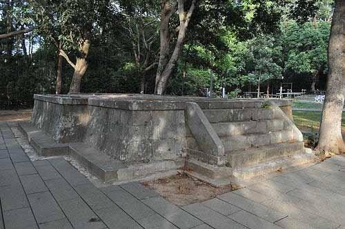 第一代嘉义神社本殿遗迹。 (图片提供:tony)