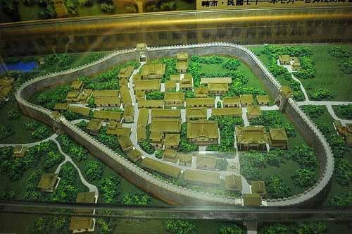 嘉义古城模型。 (图片提供:tony)