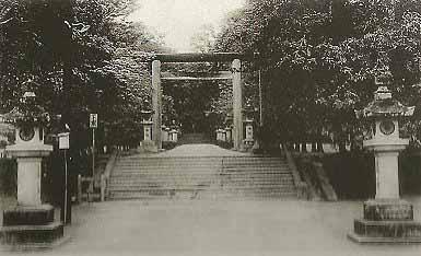 嘉义神社老照片。 (图片提供:tony)