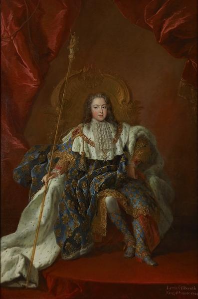 少年路易十五画像(公有领域)