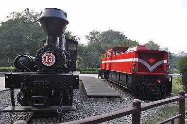阿里山森林铁路车库园区。(图片提供:tony)