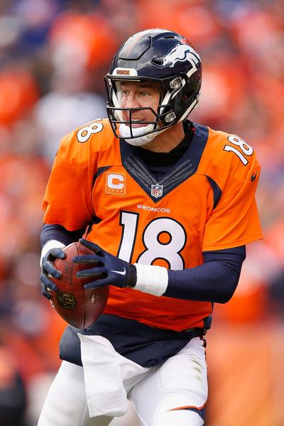 丹佛野馬四分衛佩頓.曼寧(Peyton Manning)。(Christian Petersen/Getty Images)