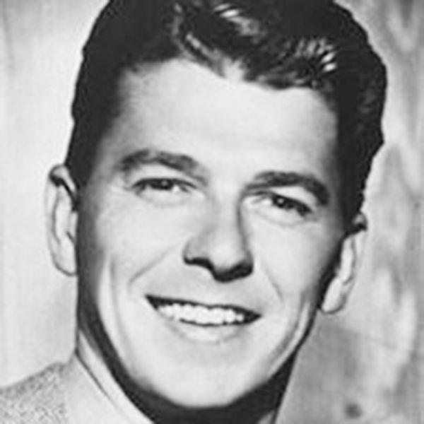 美国前总统罗纳德·里根的年轻时代。(摄影:Juliet Zhu/大纪元,来源:Ronald Reagan Presidential Library)