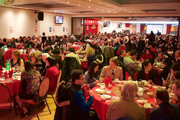 蒙特利尔大纪元举办新年餐会 数百人热闹过年