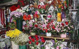 深红色的玫瑰花仍然是情人节最受欢迎的。(蔡溶/大纪元)