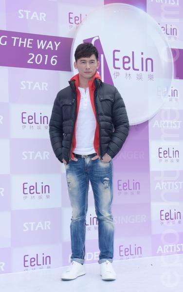 伊林娱乐于2016年2月15日在台北举行开工团拜。图为温昇豪。(黄宗茂/大纪元)
