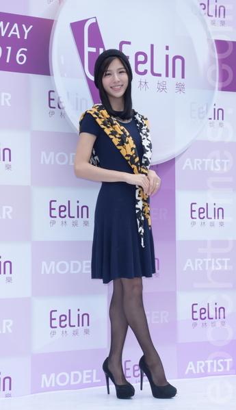 伊林娱乐于2016年2月15日在台北举行开工团拜。图为詹乃蓁。(黄宗茂/大纪元)
