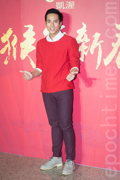 凱渥經紀公司2月15日在台北舉辦新春團拜,圖為男模莊凱勛。(陳柏州/大紀元)