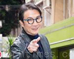 港星劉松仁2月16日在台北宣傳新戲。(陳柏州/大紀元)