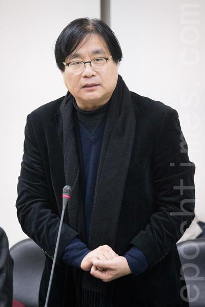 台湾关怀中国人权联盟理事长杨宪宏(陈柏州/大纪元)