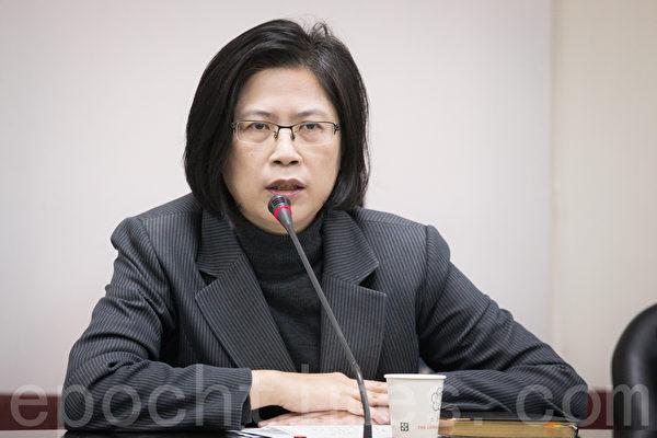 台湾法轮功人权律师团发言人朱婉琪(陈柏州/大纪元)