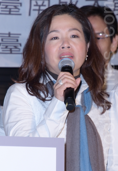 民歌40巡演列车最终站回到校园于2016年2月17日在台北举行记者会。图为许淑绢。(黄宗茂/大纪元)