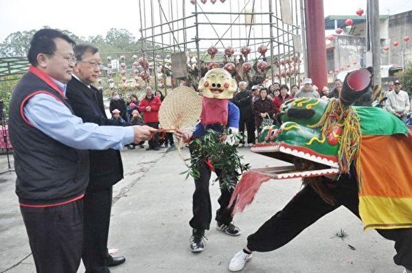 客家方口狮阵表演。(新竹县政府提供)