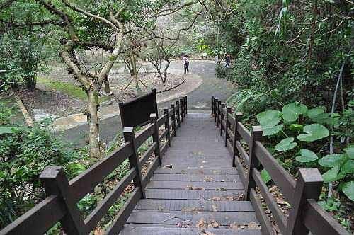 返抵生态步道的入口,回到乌来瀑布公园。 (图片提供:tony)