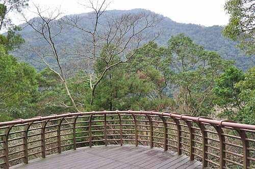 乌来瀑布公园观景平台。 (图片提供:tony)
