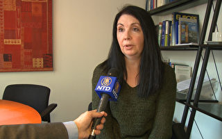 欧洲政策中心研究员阿曼达保罗(Amanda Paul)接受采访。(新唐人)