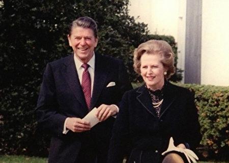 1981年2月26日,在雷根總統宣誓就職一個月後,英國首相瑪格麗特·撒切爾訪問美國。(Juliet Zhu/大紀元,圖片來源:Ronald Reagan Presidential Library)