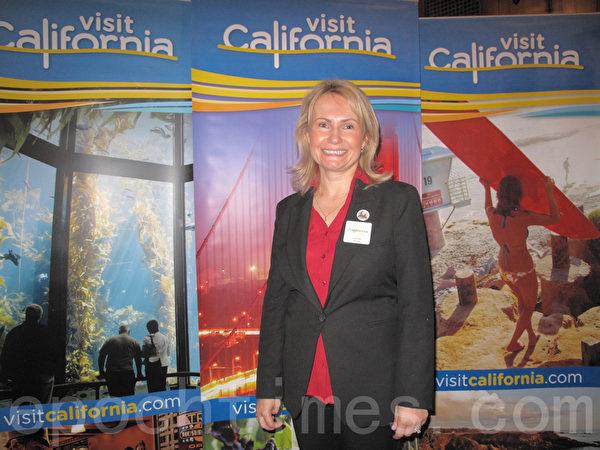 加州旅游局总裁兼首席执行官Leona Reed。(李文净/大纪元)