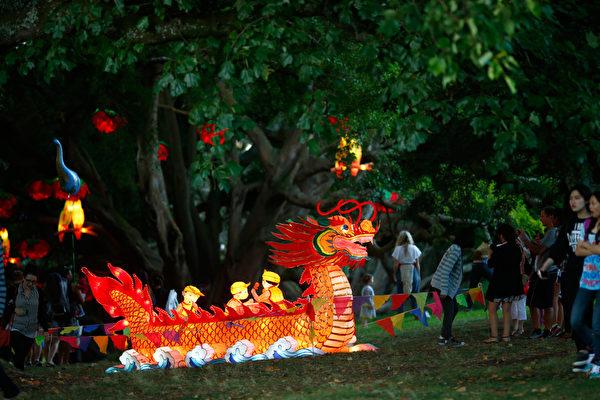 新西兰奥克兰一年一度的元宵灯节。(Phil Walter/Getty Images)