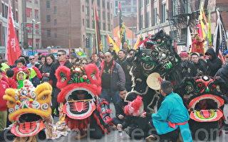 波城華埠醒獅團拜慶猴年