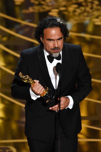 墨西哥名导亚利桑德罗?冈萨雷斯?伊纳里图凭借《荒野猎人》蝉联奥斯卡最佳导演奖。(Kevin Winter/Getty Images)