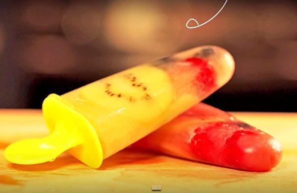水果冰棒(新唐人電視台視頻擷圖)
