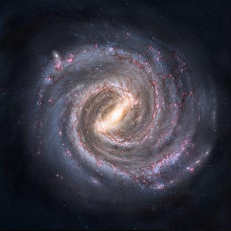 美麗的銀河系蘊涵無窮奧秘。有人認為,類似佛家卐字符的外形就足以讓人浮想聯翩。(維基百科)