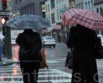 2015年10月开始的冬季,旧金山阴雨绵绵,雨量超过历年平均。(刘义/大纪元)