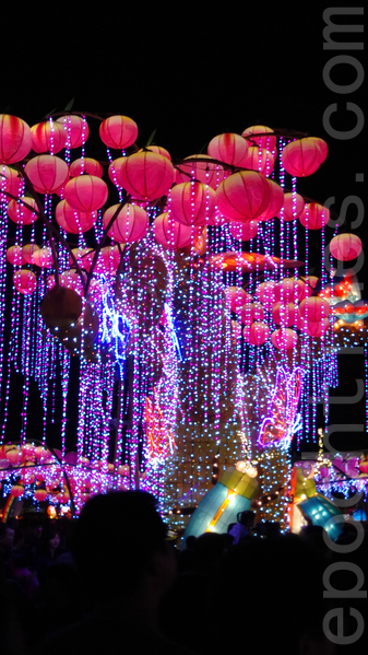 """2016台湾灯会""""科技世界""""灯区。(唐宾/大纪元)"""