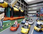 兰城晶英酒店芬朵奇堡举办风火竞速王赛车活动,小朋友们玩的不亦乐乎,大人在一旁也乐得轻松。(兰城晶英提供)