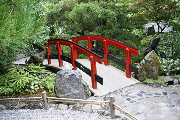 加拿大布查特花園小橋(Pixabay)