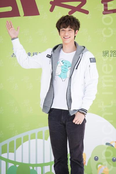 藝人劉以豪3月2日在台北出席公益活動。(陳柏州/大紀元)