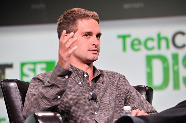 Snapchat联合创办人——25岁的埃文‧斯皮格尔。(Steve Jennings/Getty Images for TechCrunch)