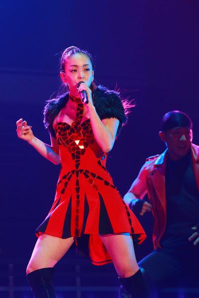 安室奈美惠3月5日晚间在台北小巨蛋开唱。(超级圆顶提供/中央社)