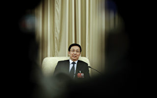 图为2016年3月两会上的上海市委书记韩正。(Lintao Zhang/Getty Images)