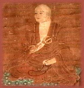 日本留唐僧人空海在長安青龍寺修習佛學與漢學,他仿照漢字的草書發明了平假名。圖為空海畫像(公共領域)