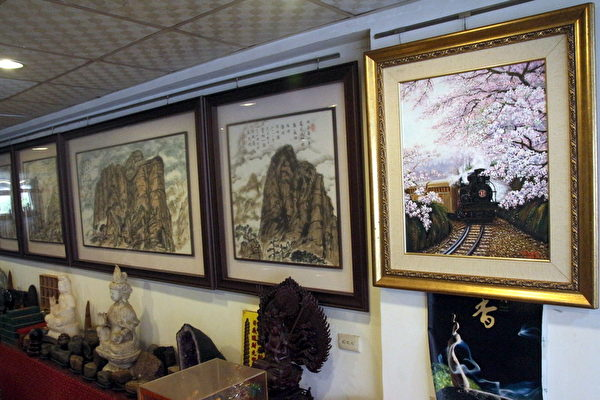 艺术馆收藏了本土当代的艺术家作品。(赖友容/大纪元)