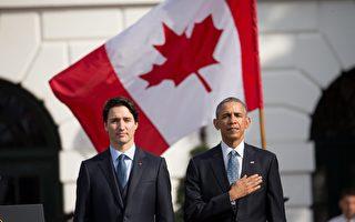 加拿大总理杜鲁多9日抵达华府,展开上任后的首次国事访问。预计他将宣布对美加旅客跨境检查的改革计划。(加通社)